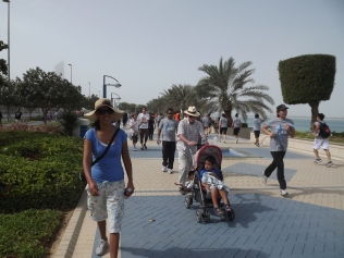The Terry Fox walk is an annual event on the Corniche