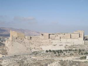Karak Castle, we took a wrong turn but at least we got this photo out of it