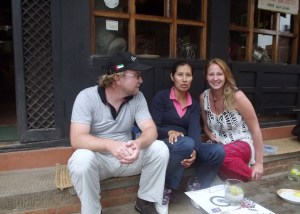 the Nepalese guest house was great for people watching and hanging out with other tourists.