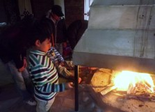Kids love building a fire