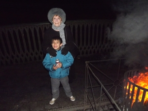 It was cold at the Black Country museum