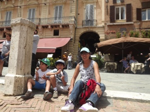 In the square in Sienna where they do the Palio