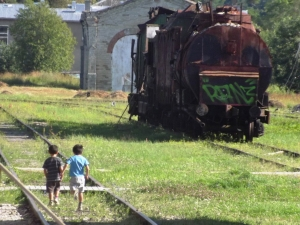 There were some BIG Soviet Era trains rotting quietly in Viljandi