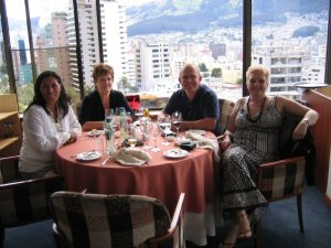 With Danny's Godmother Aunitie Sarah at yet another Hotel Quito lunch