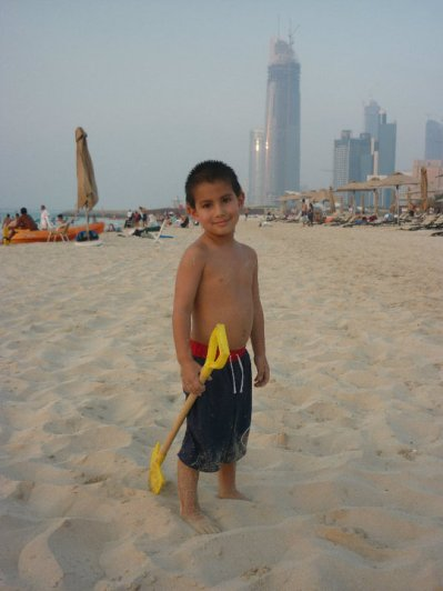 Typical beach day on the Corniche, before we joined the Club...