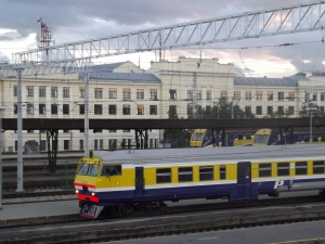 The view from the flat, but least we didn't have far to walk to get a train in Riga