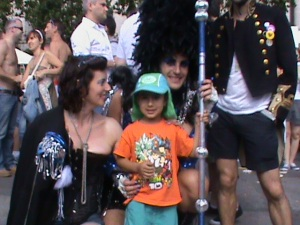Tommy was 3 at his first Pride, always a good day out for the kids if you don't mind the crowds