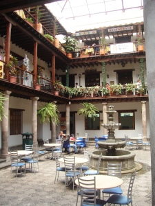 A typical colonial patio in the old twon