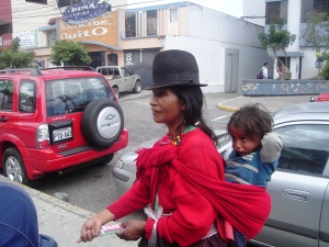 Begging is fast disapearing in Quito