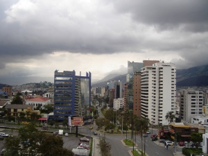 North Quito from the Hotel Quito