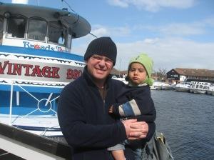 On a Norfolk broads boat