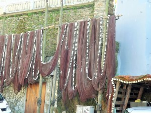 Drying their nets