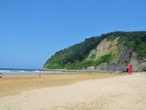 This is a busy Asturian beach